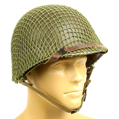 Original WWII U.S. 1944 M1 McCord Front Seam Helmet with Seaman Paper Co Liner