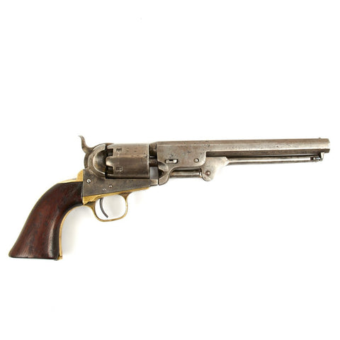 Original U.S. Civil War Colt 1851 Navy .36 Caliber Revolver - Manufactured in 1861, Matching Serial No 100161
