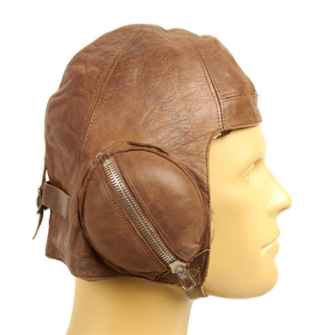 Original Canadian WWII RAF Named Type B Leather Flying Helmet - Battle of Britain Original Items