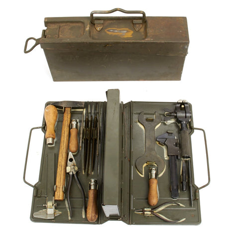 Original German WWII MG34/42 Waffenmeister Field Tool Kit Marked BSW 1938 - Complete