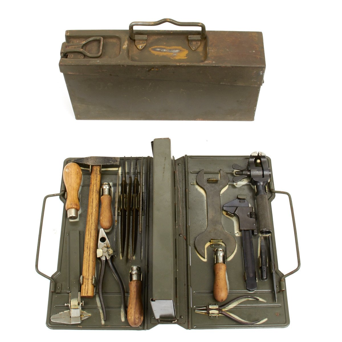 Original German WWII MG34/42 Waffenmeister Field Tool Kit Marked BSW 1938 -  Complete – International Military Antiques