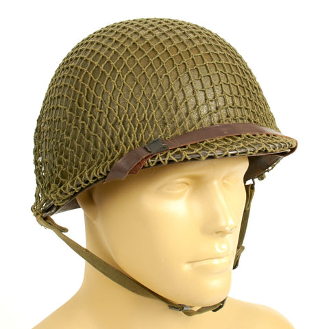 Original U.S. WWII 1943 M1 McCord Front Seam Helmet with Westinghouse Liner Original Items