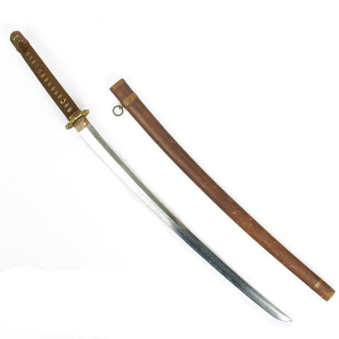 Original WWII Japanese Army Officer Katana Samurai Sword - Handmade by Endo Eiji and Dated August 1941