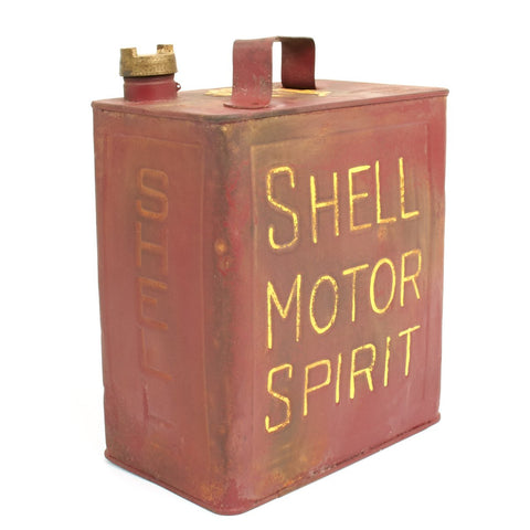 Original British WWII Vickers Machine Gun Water SHELL MOTOR SPIRIT Can - Petrol 2 Gallons