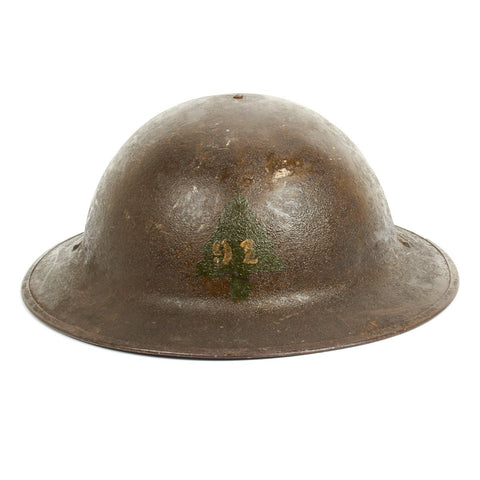 Original U.S. WWI M1917 Doughboy Helmet of the 1st Infantry Division - 91st Infantry Division