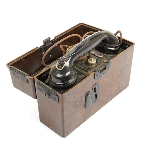 Original German WWII Model FF33 Wehrmacht Field Telephone - Feldfernsprecher 33