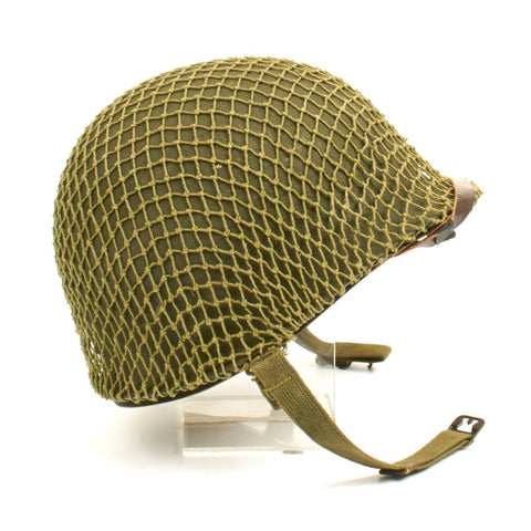 Original U.S. WWII 1944 M1 McCord Front Seam Helmet with CAPAC Liner Original Items