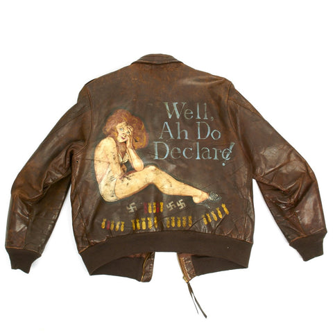 "Original U.S. WWII B-17 Bomber ""Well, Ah Do Declare!"" Named A-2 Flight Jacket (Size 42)"