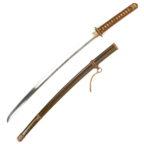 Original WWII Japanese Army Officer Katana Samurai Sword - Signed Blade Original Items