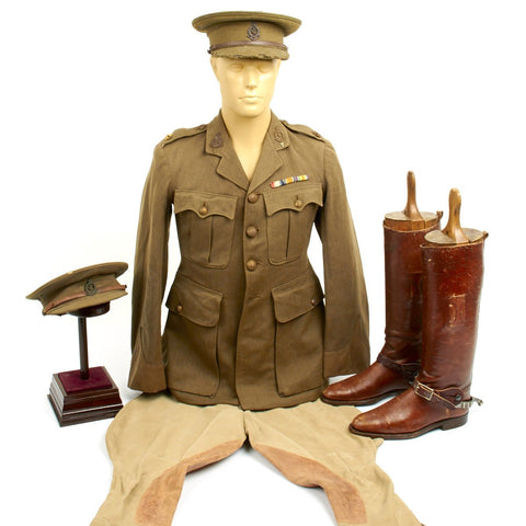 Original British WWI Royal Army Medical Corps Officer Uniform with Boots