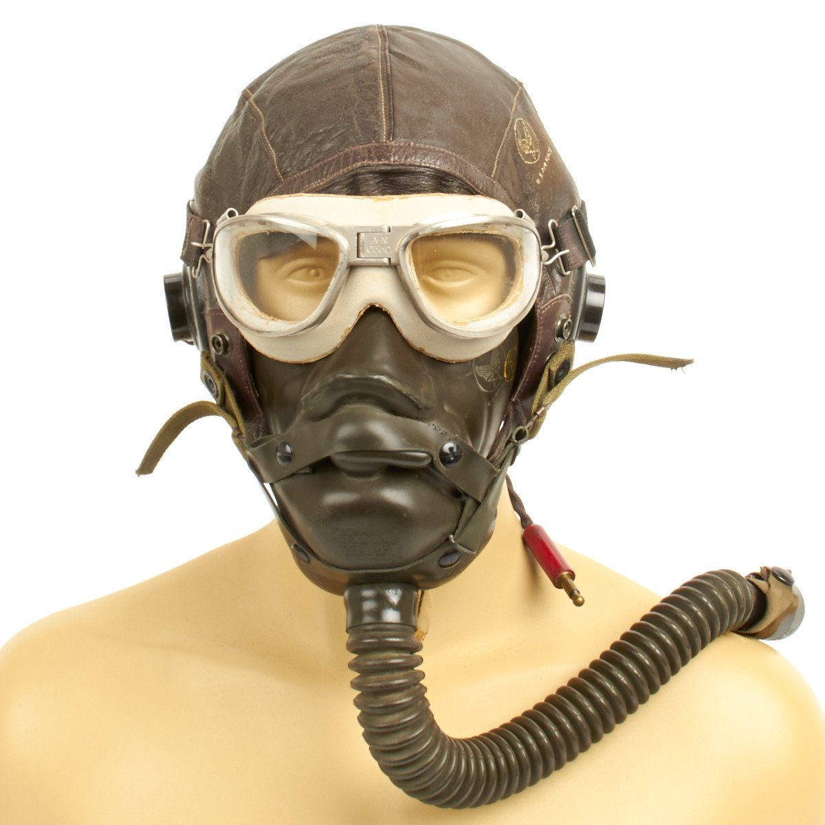 9030630befc Prev · Original U.S. WWII Army Air Force Aviator Flight Helmet Set. Tap to  expand