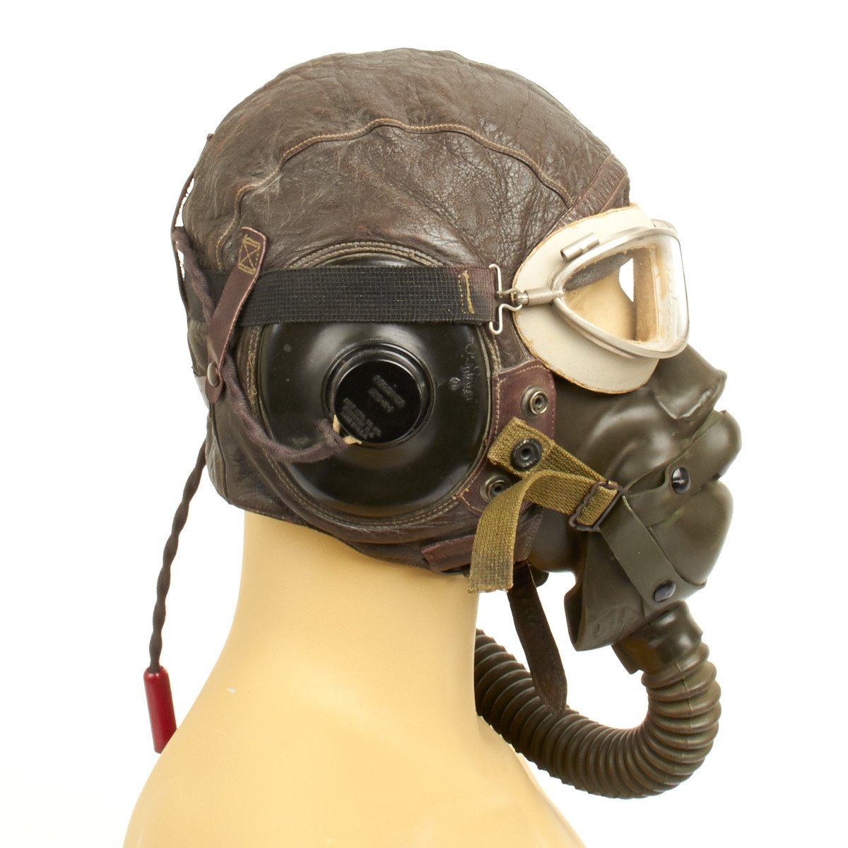 8d3049dd9d8 Original U.S. WWII Army Air Force Aviator Flight Helmet Set ...