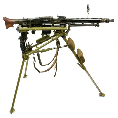 Original German WWII MG 42 Display Machine Gun with Lafette Mount- Marked dfb Dated 1943 Original Items