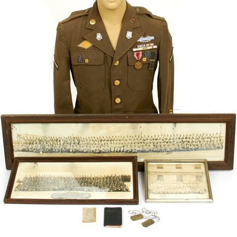 Original U.S. WWII 307th Infantry Regiment Anti Tank Gunner Named Grouping Original Items