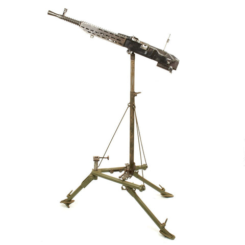 Original German WWII ZB 37(t) Display Machine Gun with Rare Anti-Aircraft Tripod
