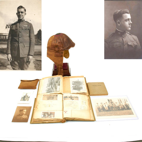 Original U.S. WWI Army Air Service Pilot Named Grouping Original Items