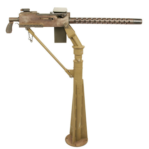 Original U.S. WWII Browning .30 Caliber 1919A4 Display Machine Gun with M25 Vehicle Pedestal Mount