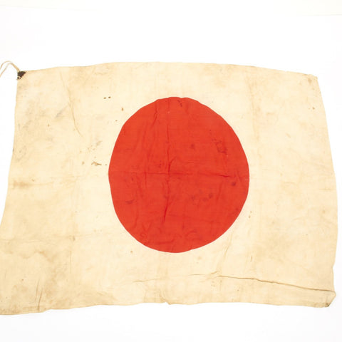 Original Japanese WWII Good Luck Silk Flag