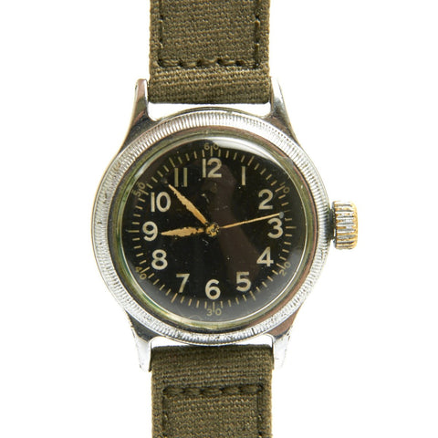 Original U.S. WWII Type A-11 USAAF Wrist Watch by Elgin - Fully Functional