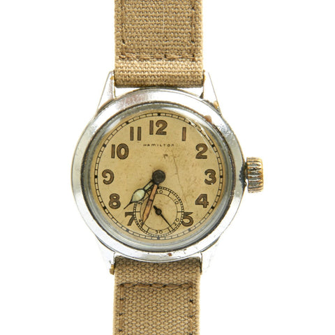 Original U.S. WWII Army Model 987A Wrist Watch by Hamilton - Fully Functional