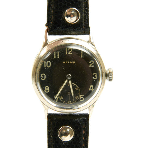 Original German WWII Wehrmacht D-H Watch by Helma - Fully Functional Original Items