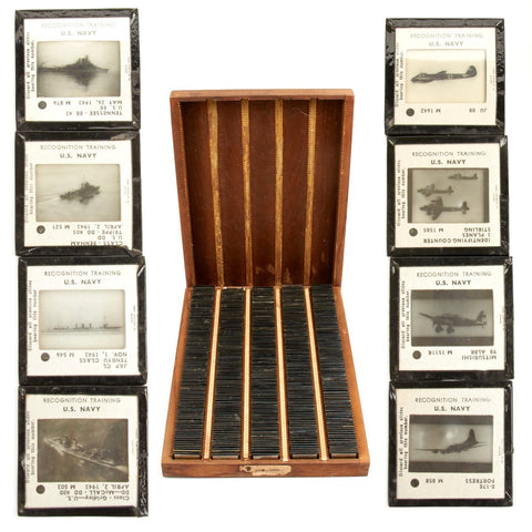 Original U.S. WWII Navy Recognition Training 35mm Slides - Complete Box of 500