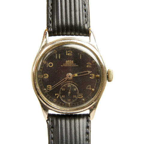 Original German WWII Wehrmacht D-H Watch by ARSA - Fully Functional Original Items
