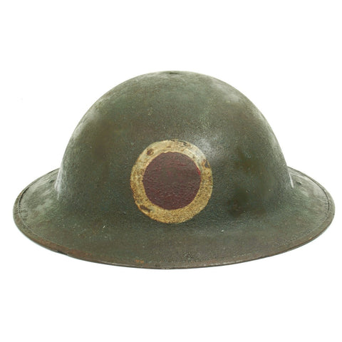 Original U.S. WWI M1917 Doughboy Helmet of the 37th Infantry Division with Textured Paint