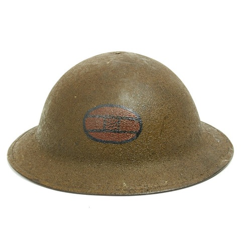 Original U.S. WWI M1917 Doughboy Helmet of the 30th Infantry Division with Textured Paint