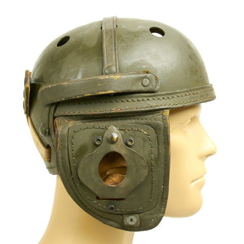 Original U.S. WWII M38 Tanker Helmet by Sears Saddlery Co -  Size 7 1/8 Original Items