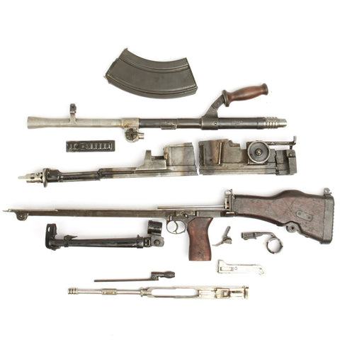 British WWII Bren LMG Mk 1 Parts Set - Super Rare Mk I Enfield Transitional Receiver - 1940 Dated