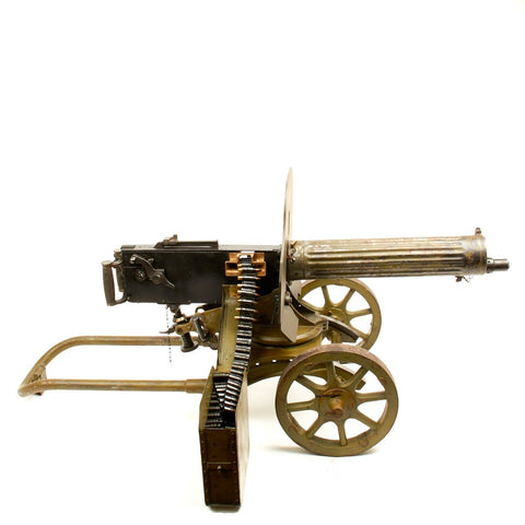 Original Russian Maxim M1910 Fluted Display Machine Gun, Sokolov Mount and Accessories- Dated 1944
