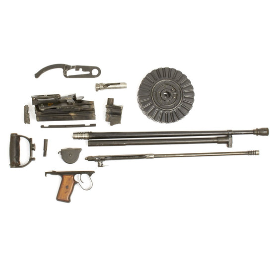 Original Japanese Pre-WWII Type 92 7.7mm Aerial Machine Gun Parts Set- Matching Serial Numbers