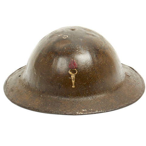 Original U.S. WWI M1917 Doughboy Helmet of the 77th Liberty Division with Textured Paint Original Items