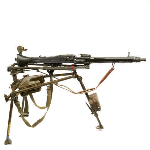 Original German Post War MG3 Tripod with M53 Display Gun Original Items