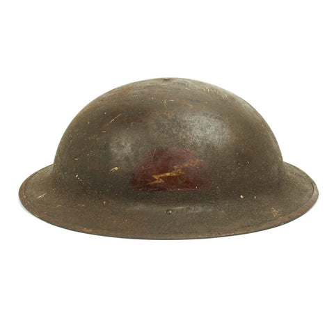 Original U.S. WWI M1917 Doughboy Helmet of the 78th Infantry Division with Textured Paint Original Items