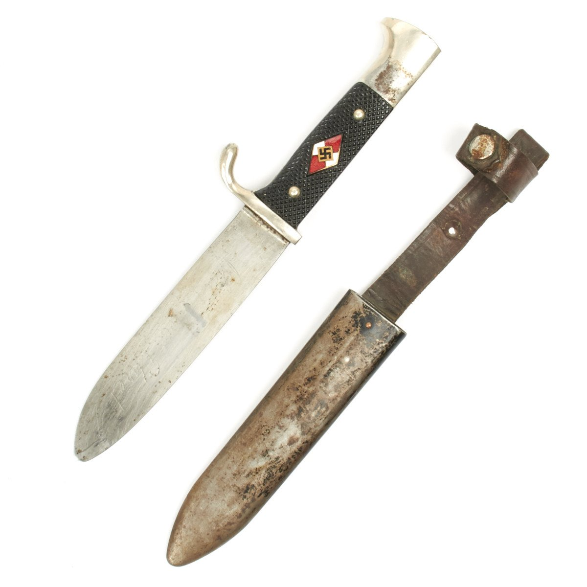 Original German WWII Hitler Youth Knife with Motto by