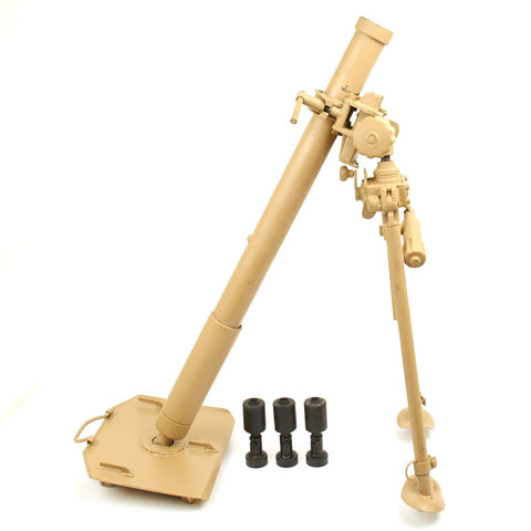 Original German WWII 8 cm GrW 34 Granatwerfer 34 Mortar with Blank Firing Rounds Original Items