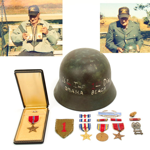 Original U.S. WWII 1st Infantry Division Double Silver Star Recipient Luftwaffe D-Day Bring Back Grouping Original Items