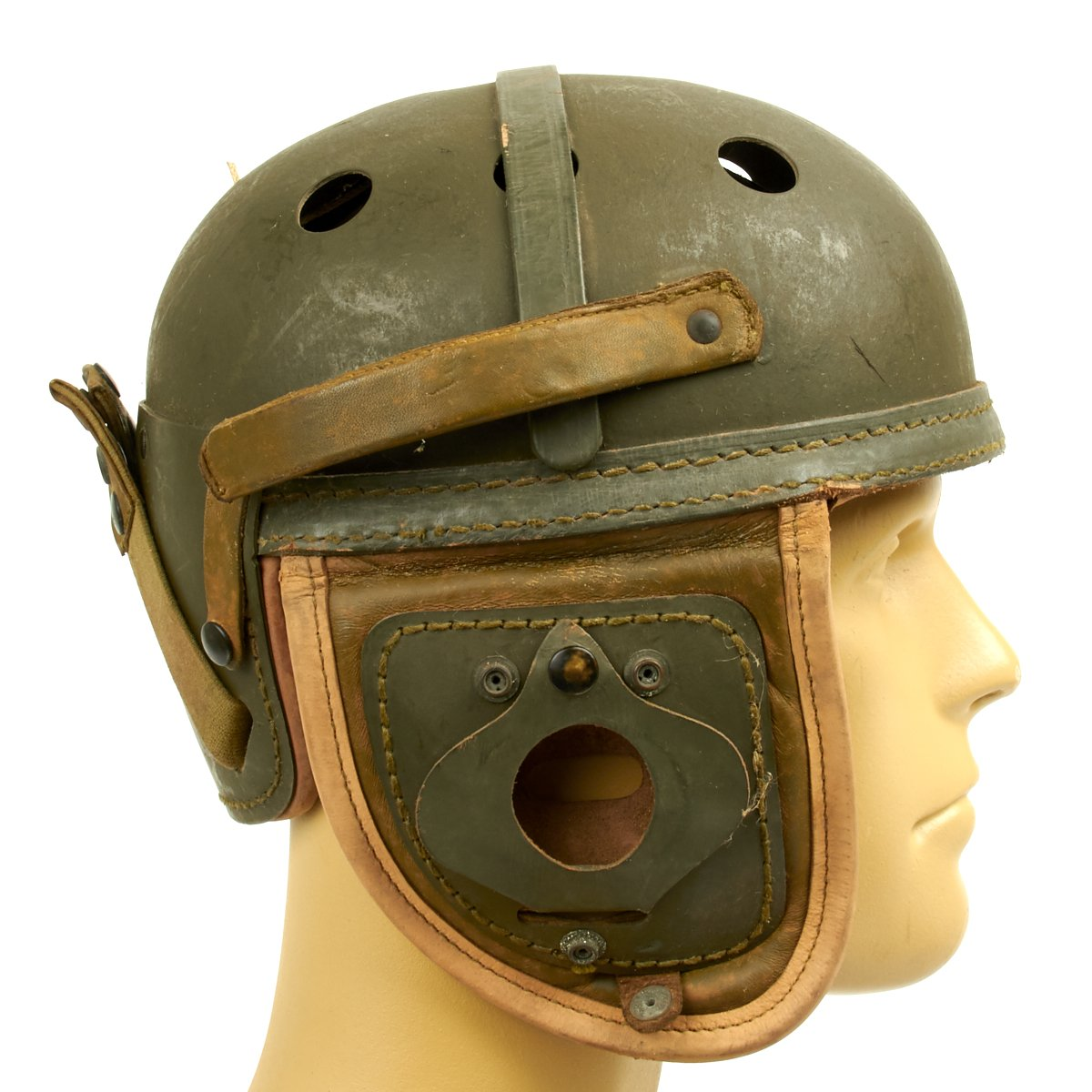 Original U S  WWII M38 Tanker Helmet – International Military Antiques