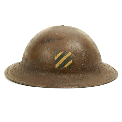 Original U.S. WWI M1917 Doughboy Helmet of the 3rd Infantry Division with Textured Paint