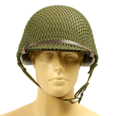 Original U.S. WWII Named M1 Schlueter Helmet with CAPAC Liner Original Items