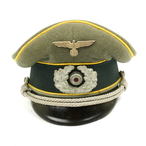 Original German WWII Heer Signal Corps Officer Visor Cap by Erel (Double Marked)