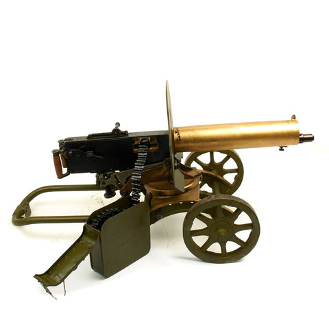 Original Russian M1910 Brass Maxim Display Machine Gun with Brass Sokolov Mount
