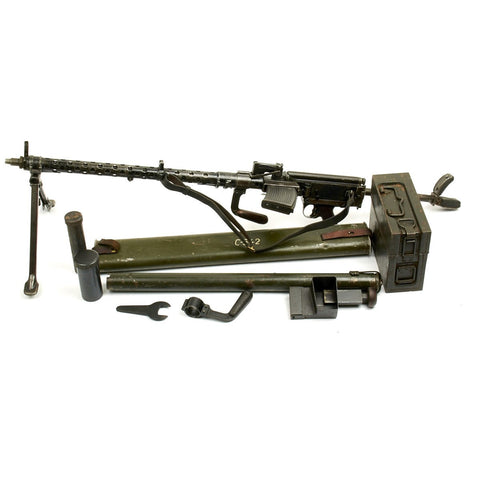 Original German WWII MG 13 Display Gun with Accessories- Dated 1938 Original Items