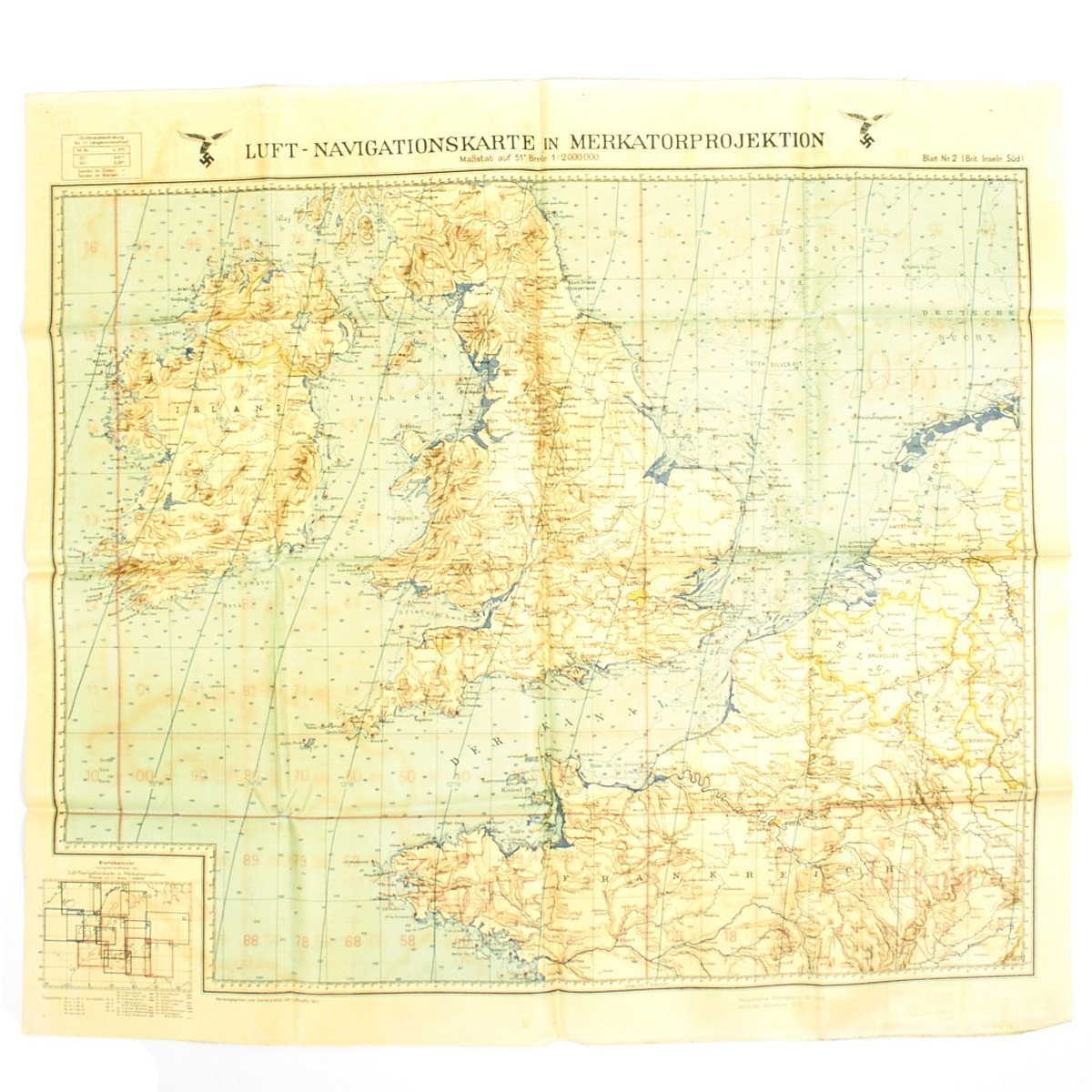 Map Of England During Ww2.Original German Wwii Luftwaffe Navigator Map Of England Battle Of