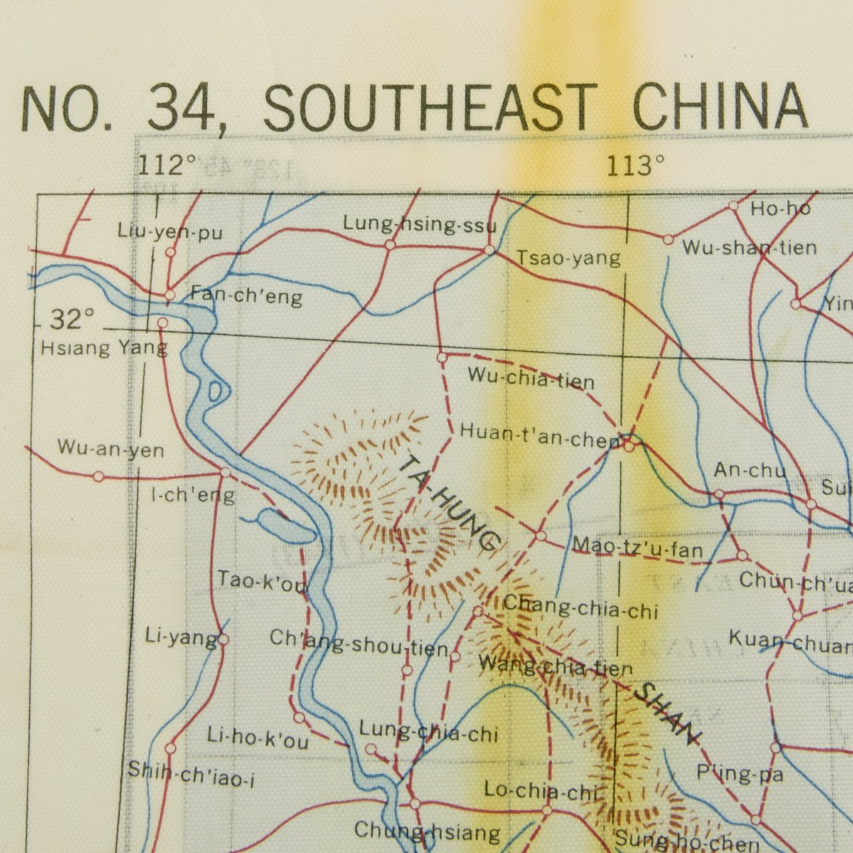 Original US WWII Army Air Force Silk Escape Map Chart Luzon - Original us map