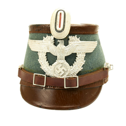 Original German WWII Robert Lubstein Rural Polizei Shako by Erel