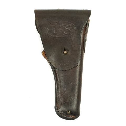 Original U.S. WWII M1916 .45 Graton & Knight Co 1943 Dated Leather Holster Original Items