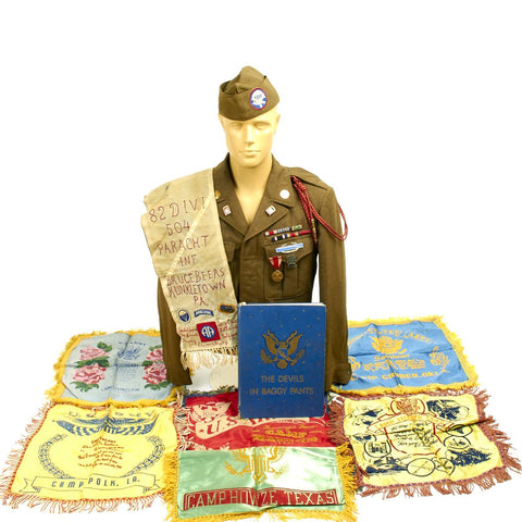 Original U.S. WWII Named 82nd Airborne 504th Parachute Infantry Regiment Grouping - Bruce H. Beers Original Items